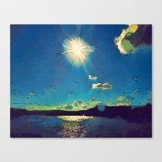 Sunshine at the Black Sea Canvas Print