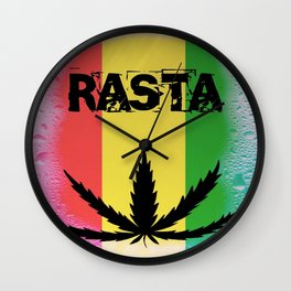 RASTA WET Wall Clock