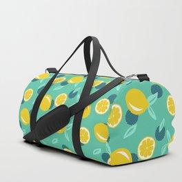 Lemon dots #society6 #decor #buyart Duffle Bag