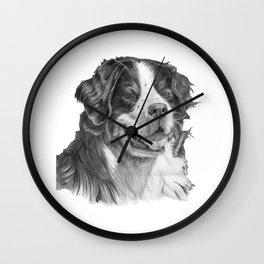 Bernese mountain dog Wall Clock