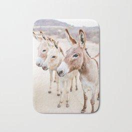 Three Donkeys in Baja, Mexico Bath Mat