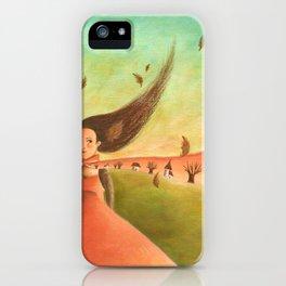 Autumn Lady iPhone Case