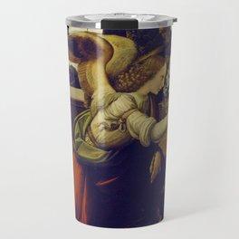 """Leonardo da Vinci """"Annunciation 1. (Archangel Gabriel)"""" Travel Mug"""