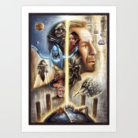 fifth element Art Prints featuring The Fifth Element by muratturan