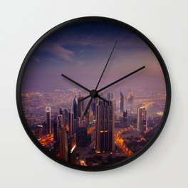 City sky view Wall Clock