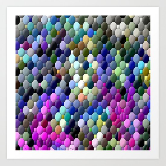 Partyin' with colors... Art Print