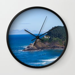 From Far Away - Heceta Head Lighthouse Wall Clock