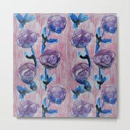 Rose Petals Series Paintings Metal Print