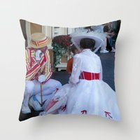 mary poppins Throw Pillows featuring Mary Poppins by Christa Morgan ☽