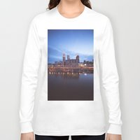cleveland Long Sleeve T-shirts featuring Daybreak in Cleveland by Jeffrey Stroup