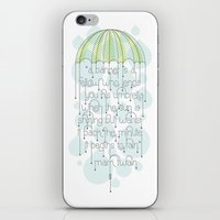 umbrella iPhone & iPod Skins featuring Umbrella by Jude Landry