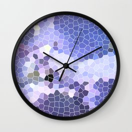Abstract Purple Mosaic Art | Geometric | Spring Wall Clock