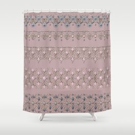 Gold lace 2 Shower Curtain