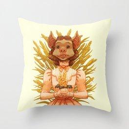 Vampire Bat Girl Throw Pillow