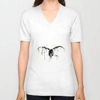 death note V-neck T-shirts featuring Death note by sgrunfo