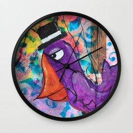 Mr. Grumpy Pants - Crow Quirky Bird series Wall Clock