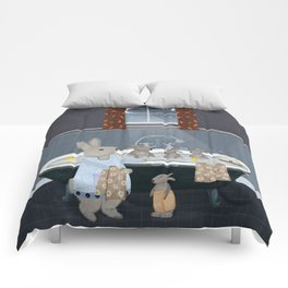 bunny bath time Comforters