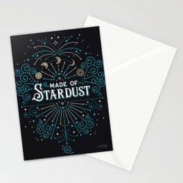 Made of Stardust – Blue & Black Palette Stationery Cards