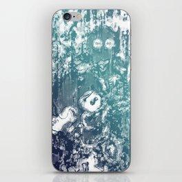 Inky Shadows - Blue edition iPhone Skin
