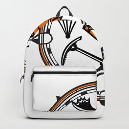 Moose Land Sea Air Emergency Rescue Mascot Backpack