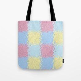 Pastel Jiggly Tile Pattern Tote Bag