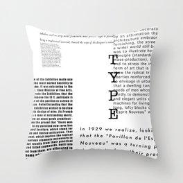 Type - Le Corbusier, Pavilion L'Esprit Nouveau Throw Pillow