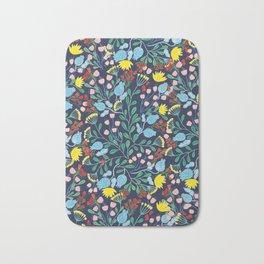 Floral Garden - Blue Bath Mat