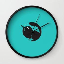 Cute Cat Circle Wall Clock