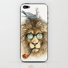 Lion sailor & seagull iPhone & iPod Skin