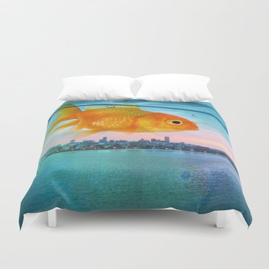 Tank with a view Duvet Cover