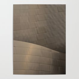 Architectural abstract of the home of the LA Philharmonic. Architect: Frank Gehry Poster