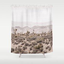Sierra Nevada Mojave // Desert Landscape Blush Cactus Mountain Range Las Vegas Photography Shower Curtain