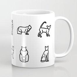 CUTE CAT BREEDS PATTERN Coffee Mug