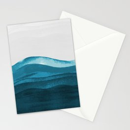 Ocean waves paint Stationery Cards