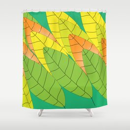 """Autumn leaves (""""Leaves"""" translated as """"Les feuilles"""" in French) Shower Curtain"""