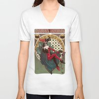 harley quinn V-neck T-shirts featuring Harley Quinn by LaurenceBaldetti