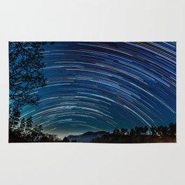 Star trail Rug
