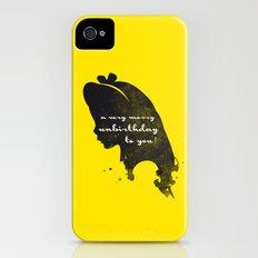 Unbirthday – Alice Silhouette Quote iPhone (4, 4s) Slim Case