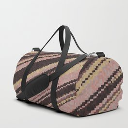 yellow and pink abstract Duffle Bag