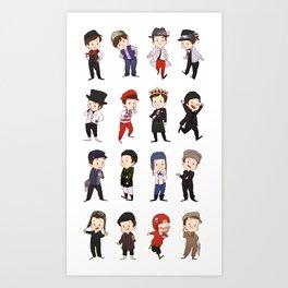 Mini Kurt hats Art Print