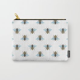 Watercolour Bee Pattern Carry-All Pouch