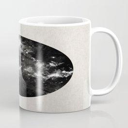 God's Window - Black And White Space Painting Coffee Mug