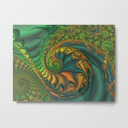 Dragon's Lair - Fractal Art Metal Print