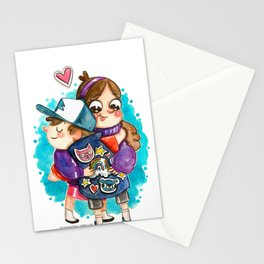 Gravity Falls Super Group Hug! Stationery Cards
