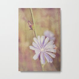 Morning Wildflower Metal Print