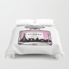 Paris perfume fashion illustration eiffel tower Duvet Cover
