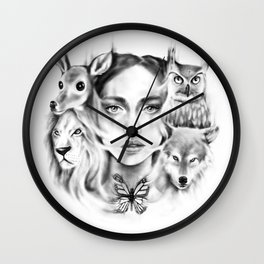 Tangled Existence (Spirit Animals) Wall Clock