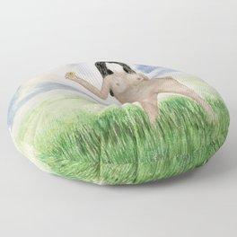 Faceless Nude 7 Floor Pillow
