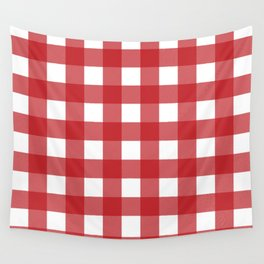 Buffalo Plaid in Red Wall Tapestry