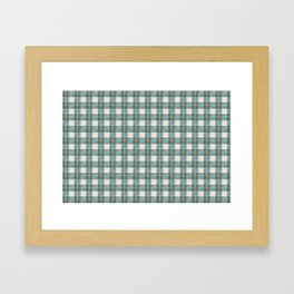 Green, Blue, and Ivory Traditional Plaid Pattern Framed Art Print
